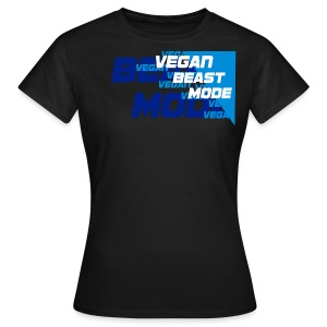 Vegan Beast Mode [blue] - Frauen T-Shirt