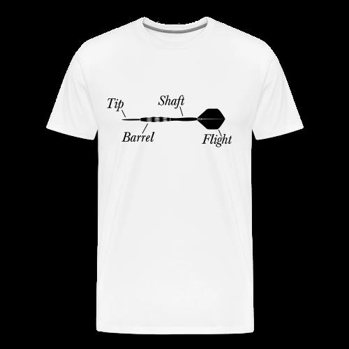 Dartpfeil Beschreibung Shirt - Männer Premium T-Shirt