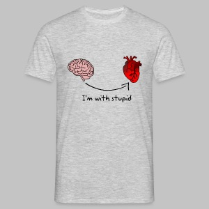 T-shirt Homme (man) I'm with Stupid - Men's T-Shirt