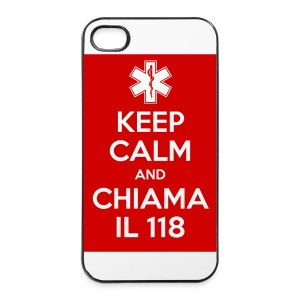 cover  4/4s keep calm 118 - Custodia rigida per iPhone 4/4s