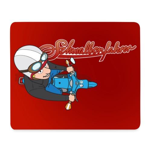 Mauspad Schwalbenfahrer rot - Mousepad (Querformat)