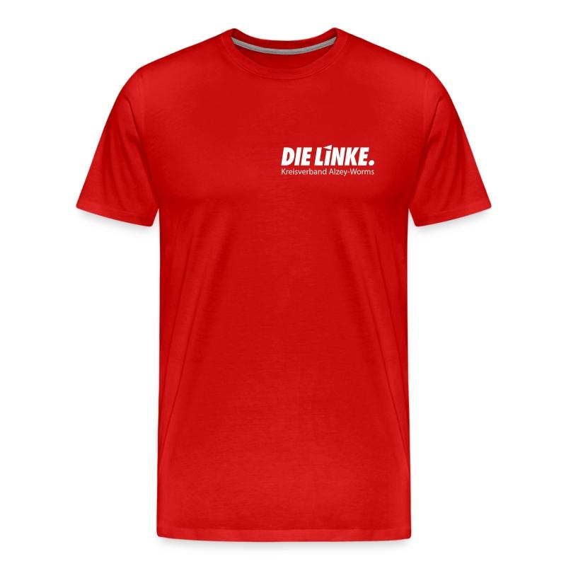 Shirt mit Brust- und Rückendruck: DIE LINKE. Alzey-Worms  - Männer Premium T-Shirt