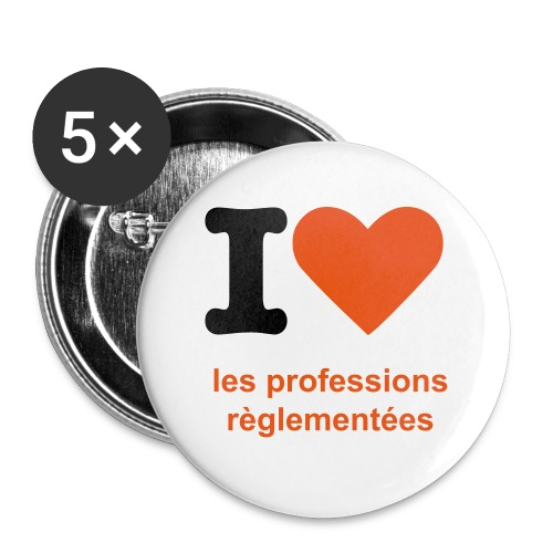 BADGE PROFESSION REGLEMENTEES - Lot de 5 grands badges (56 mm)