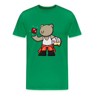Rebel Bear T-Shirt (Coloured) w/ customisable Name on Rear - Men's Premium T-Shirt