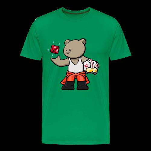Rebel Bear T-Shirt (Coloured) w/ customisable Name on Rear - Men's Premium T-Shirt