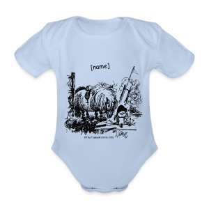 Organic Short-sleeved Baby Bodysuit