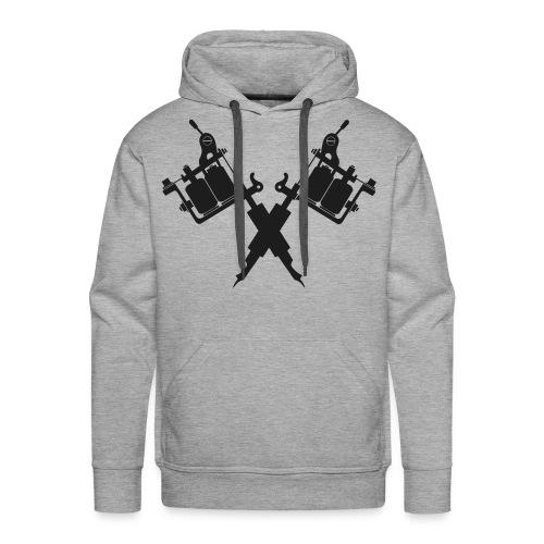 Tattoo School for Winter Noir pailleté - Sweat-shirt à capuche Premium pour hommes