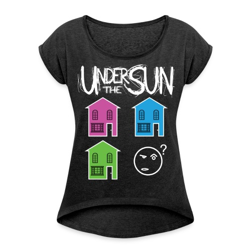 Houses Different Colours Wome's Tee - Women's T-Shirt with rolled up sleeves