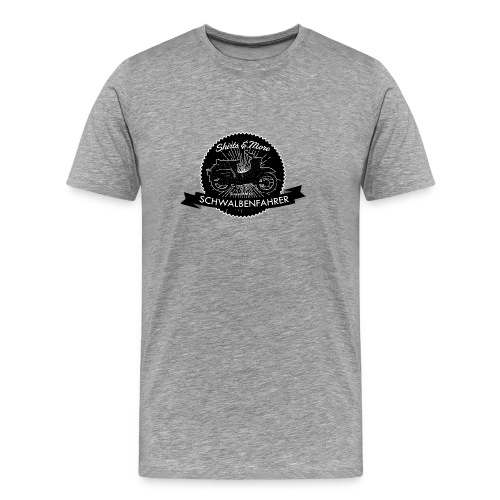 Vintage-Logo B/W - Männer Premium T-Shirt