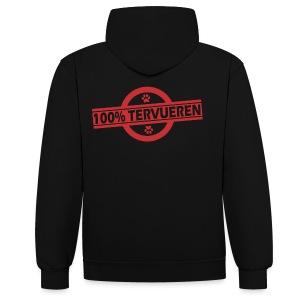 Sweet à capuche 100% Tervueren - Sweat-shirt contraste