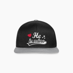 He's mine I love my Boyfriend. Valentine's Day  Caps & Hats