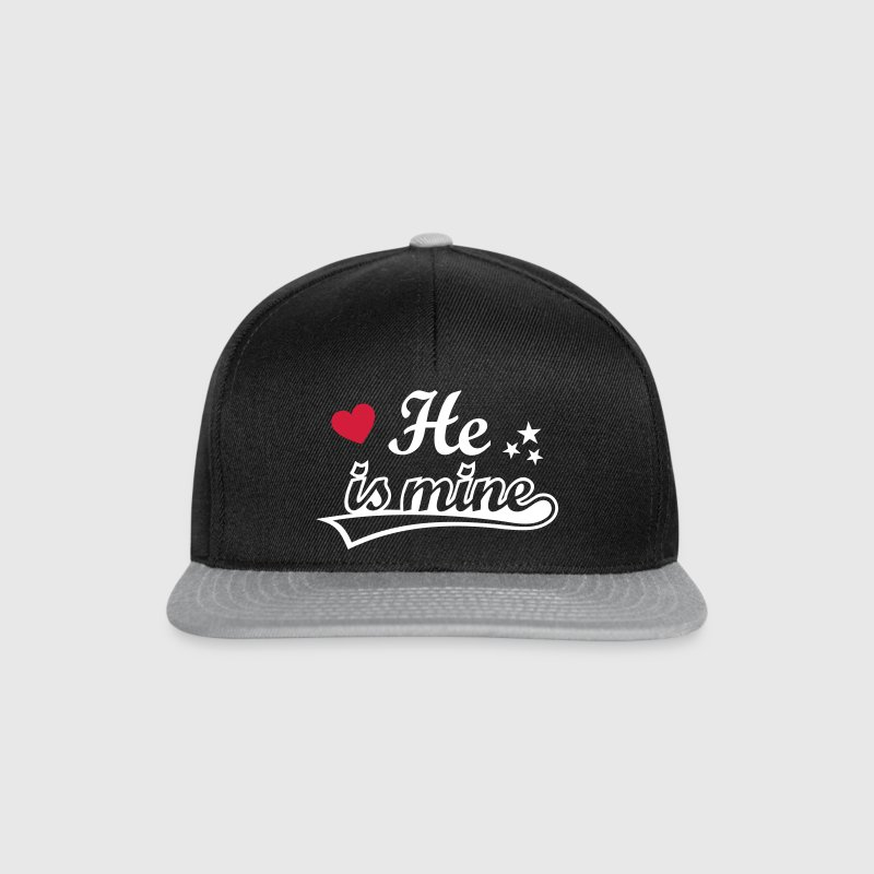 He's mine I love my Boyfriend. Valentine's Day  Caps & Hats - Snapback Cap