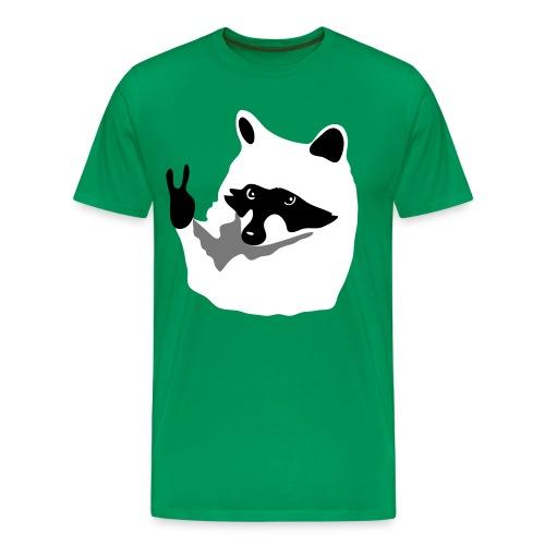 Raccoon Peace  - Männer Premium T-Shirt