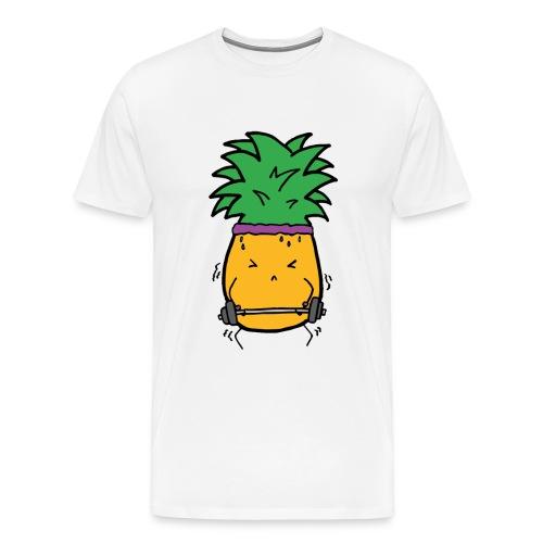 Funky Hantel Ananas T-Shirt - Männer Premium T-Shirt