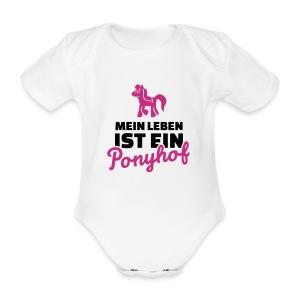 mein leben ist ein ponyhof - Baby Bio-Kurzarm-Body