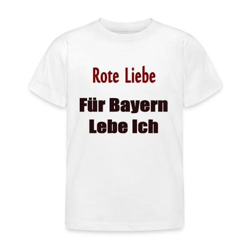 Rote Liebe- Druck Vorne - Kinder T-Shirt