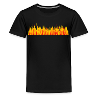 Shirts ~ Teenage Premium T-Shirt ~ Płomienna koszulka