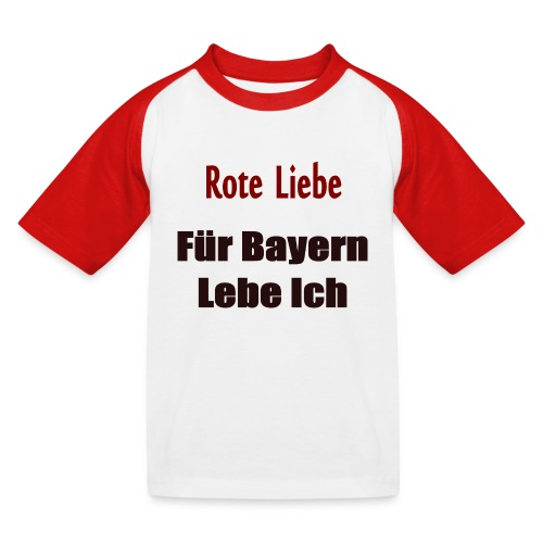 Rote Liebe- Druck Vorne - Kinder Baseball T-Shirt