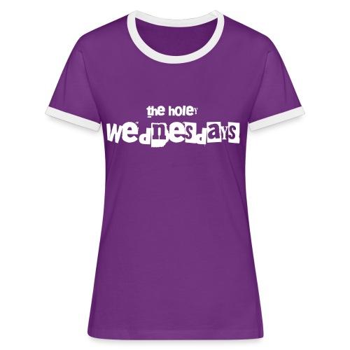 T-Shirt zweifarbig Frauen - Frauen Kontrast-T-Shirt