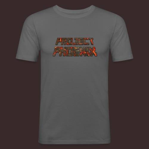PROJECT PHOENIX Volcanic logo Large - Men's Slim Fit T-Shirt