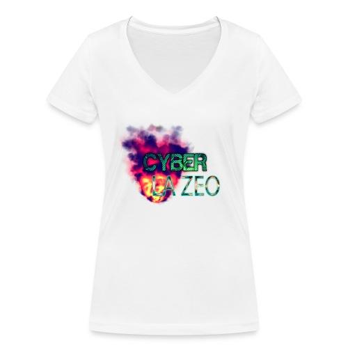 Cyber LA ZEO - Frauen Bio-T-Shirt mit V-Ausschnitt von Stanley & Stella
