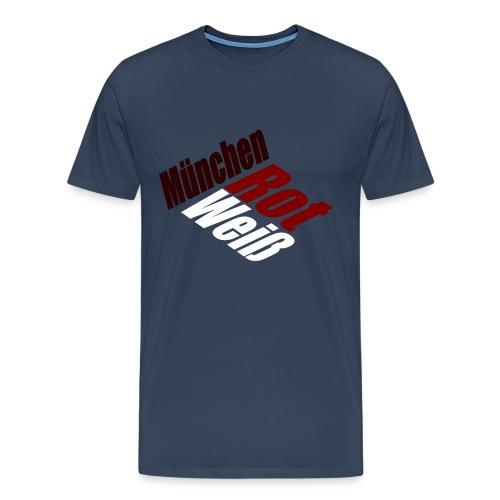 München Rot-Weiß - Druck Vorne - Männer Premium T-Shirt