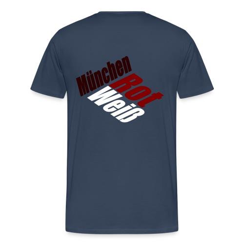 München Rot-Weiß - Druck Hinten - Männer Premium T-Shirt