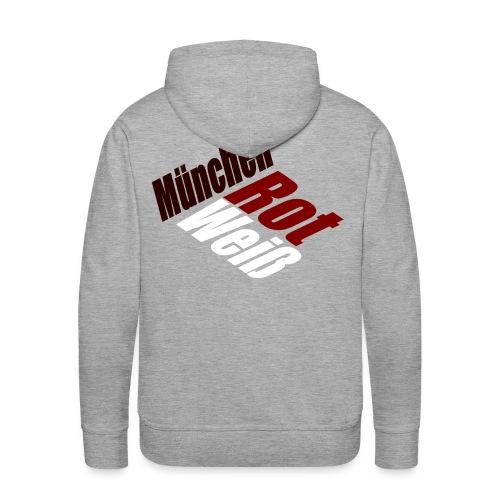 München Rot-Weiß - Druck Hinten - Männer Premium Hoodie