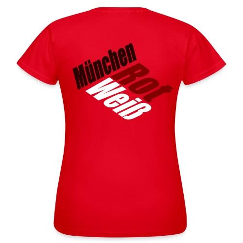 München Rot-Weiß - Druck Hinten - Frauen T-Shirt