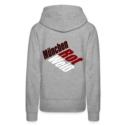 München Rot-Weiß - Druck Hinten - Frauen Premium Hoodie