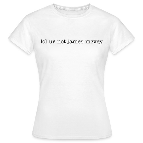 Frauen T-Shirt - the Vamps James mcVey tshirt White weiß