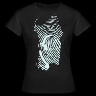 Magliette ~ Maglietta da donna ~ Sardegna, Impronta digitale (corsa)