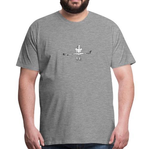 Kletterer im Spagat T-Shirts - Männer Premium T-Shirt