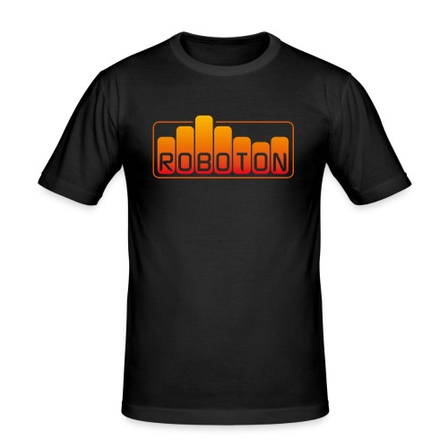 Men's Slim Fit T-Shirt - roboton,music,electro,ebm