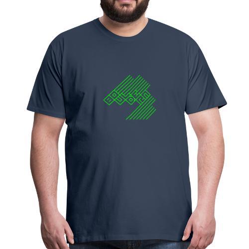 Bouldern Logo - Männer Premium T-Shirt