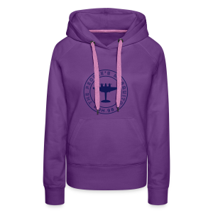 Women's MP Hoodie - Purple/Navy - Women's Premium Hoodie