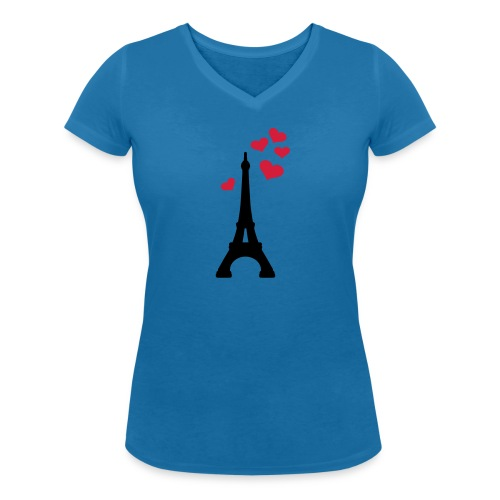 Camiseta con escote en pico Mujer - Camiseta ecológica mujer con cuello de pico de Stanley & Stella