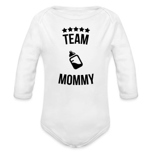 Team Mommy Mutti Mutter Fläschchen Milch Pullover & Hoodies - Baby Bio-Langarm-Body