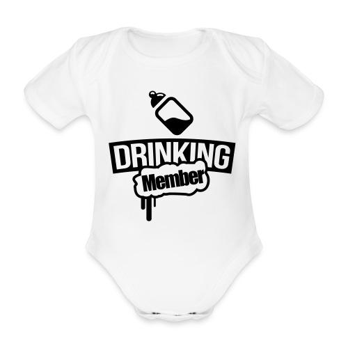 Milch-Fläschchen drinking Member Baby Body - Baby Bio-Kurzarm-Body