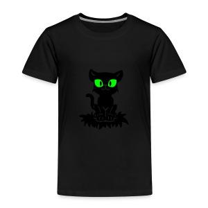 T-Shirt schwarz für Kinder mit sitzendem Blacky - Kinder Premium T-Shirt