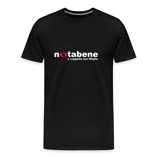 notabene Herren Übergrößen T-Shirt - Männer Premium T-Shirt