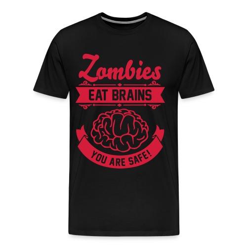 Zombie quiere tu cerebro Red - Camiseta premium hombre
