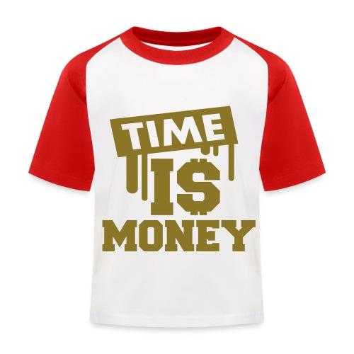 Time Is Money T-Shirt - Kids' Baseball T-Shirt