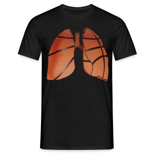 Respira baloncesto color - Camiseta hombre