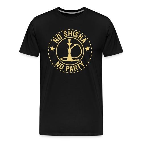 NoShisha No party / Shisha King - Männer Premium T-Shirt