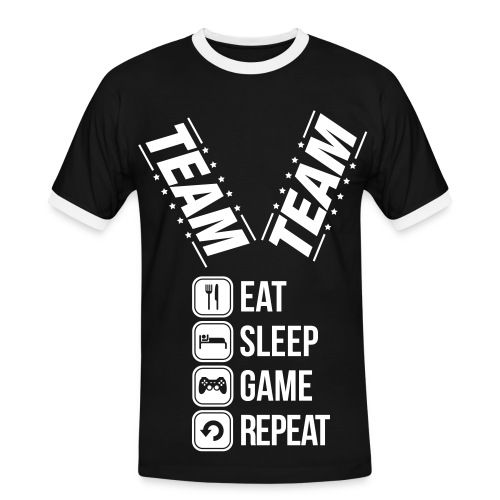 team t-Shirt - Herre kontrast-T-shirt