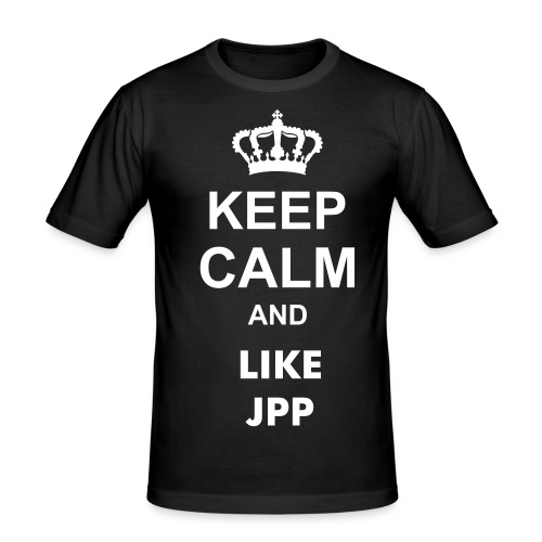 Keep Calm and Like JP Performance - Männer Slim Fit T-Shirt