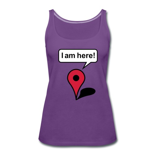 Mujer-Camiseta tirantes 'I am here' - Camiseta de tirantes premium mujer