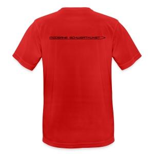 Atmungsaktives Sport-Shirt in rot für Männer - Männer T-Shirt atmungsaktiv