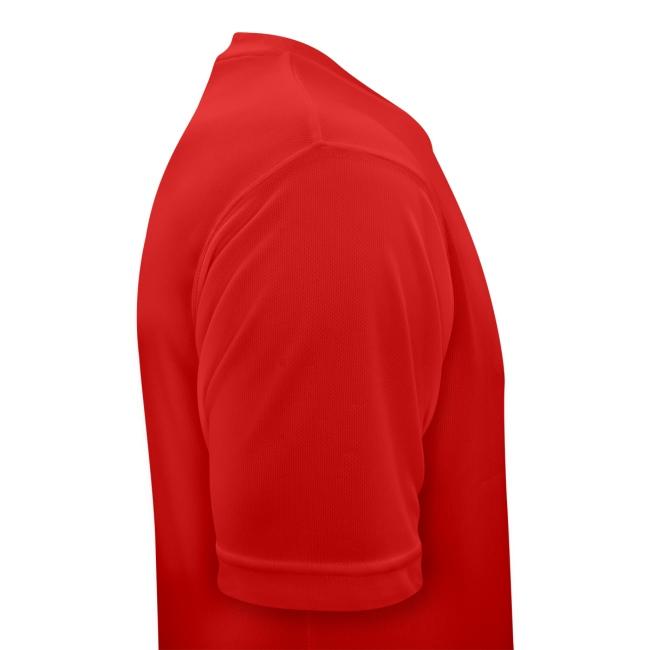 Atmungsaktives Sport-Shirt in rot für Männer
